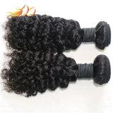 100%のベトナム人のRemyの毛のジェリーのカール自然なカラー毛の編むこと