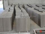 壁および床のための白い木製の静脈の大理石のタイル