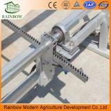 Estrutura em liga de alumínio Jardim de policarbonato Estufa com sistema de apoio