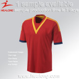 El poliester 100% de Healong modificó cualquier camisa del fútbol para requisitos particulares de Jersey del balompié de la insignia