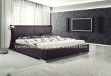 Король Размер Кожа Кровать мебели спальни двойной кровати способа самомоднейший (HC009)