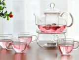Alto POT di vetro del tè di Borosillicate con la caldaia di tè dell'insieme