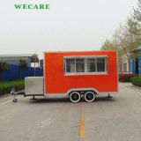 판매를 위한 주문을 받아서 만들어진 이동할 수 있는 음식 트럭