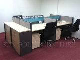 Estação de trabalho de escritório Modular melamina (SZ-WS304)