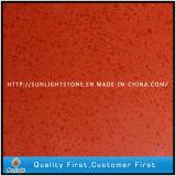 人工的な固体表面の赤くか黒くまたは黄色カラー水晶石の平板