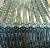 Hoja de acero acanalada de Galvanied del Galvalume revestido del color del CERT del Ce del IOS