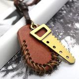 [بروون] جلد عقد رجال مفتاح & مدلّيات قابل للتعديل في نوع ذهب