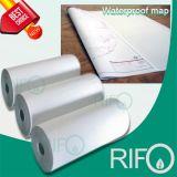 Rph-100 여행 노선 지도를 위한 연약한 백색 BOPP 합성 종이