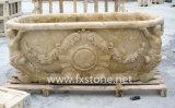 Hand geschnitzte Marmorbadewanne (Bj-feixiang005)