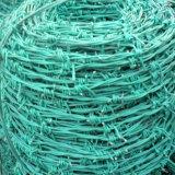 """1.5 milímetros de fio, 5 """" que espaçam, PVC revestiram o arame farpado sanfona"""