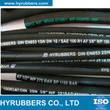 Fabriqué en Chine une couche de fil en acier tressé en caoutchouc flexible d'huile hydraulique