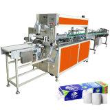 Papier de toilette empaquetant la machine à emballer de roulis de tissu