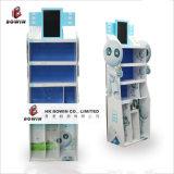 Crémaillère d'étalage debout de produits d'étage électronique de carton