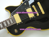 Afanti Music / Lp Custom Style / Black / Gold Parts / Electric Guitar (CST-083)