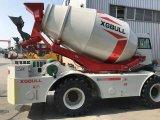 máquina do misturador 3.0cbm concreto com motor Diesel