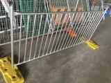 Pied de frontière de sécurité de syndicat de prix ferme, syndicat de prix ferme provisoire galvanisé clôturant des panneaux