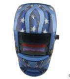 파란 색깔 독수리를 가진 자동 어두워지는 용접 가면