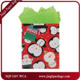 Зеленый подарок фольги кладет горячие штемпелюя мешки в мешки подарка несущей бумажных мешков подарка
