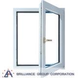 Finestra di vetro di alluminio della finestra della stoffa per tendine/della stoffa per tendine oscillazione del doppio