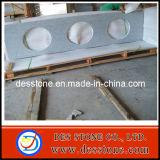 Pulido de granito gris chino encimera de baño con tres sumideros (DES-C016)
