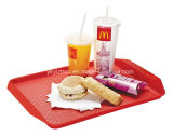Bandeja plástica de fast food para restaurante