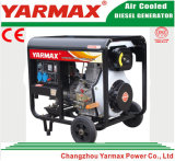 Groupe électrogène diesel simple refroidi par air de bâti ouvert de moteur diesel de cylindre de Yarmax Genset Ym3500ea