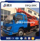 Dfq-200c sobre camión de minería subterránea de la plataforma de perforación rotativa