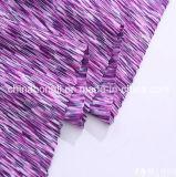 De alta qualidade Poly / Sp 92/8 Tecido com espaço tingido Tecido de lira de malha para vestuário feminino