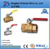Válvula de bola de la buena calidad ISO228 rápida de latón Conectado