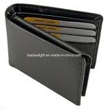 RFID преграждая кожаный предохранение от похищения тождественности кредитной карточки бумажника Mens