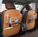 Organizzatore di cuoio del sedile posteriore dell'automobile con pieghevole