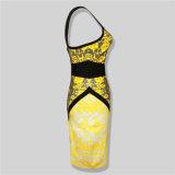 Vestiti elastici delle donne della fasciatura di slittamento di Bodycon