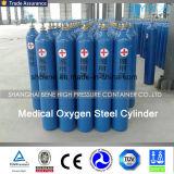 Nuovo cilindro di ossigeno medico d'acciaio riutilizzabile dal fornitore della Cina