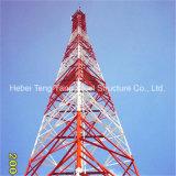 Проданная башня решетки угла телекоммуникаций 55m гальванизированная Q345b стальная