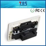 La toma de pared USB con dos puertos USB 2.4A CE