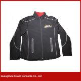 Capa impermeable de la chaqueta de Softshell del bordado de encargo de la fábrica para los hombres de las mujeres (J01)