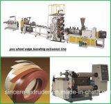 Ligne surface en bois d'extrusion de bordure foncée d'ABS de feuille de PVC des graines