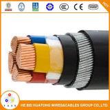 600/1000V 4 cabo distribuidor de corrente blindado do núcleo Cu/PVC/Swa/PVC