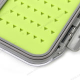 Super Small 105 * 75 * 33mm Silicone Insert Plastic Fly Fishing Box