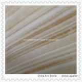 Bege chinês/Onxy azulejos de mármore branco para a parede e o piso