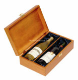 Neuer Entwurfs-runde Form-kundenspezifischer hölzerner Wein-Ablagekasten in der natürlichen Farbe