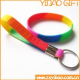 Bunter Silikon-Schlüsselring für Förderung (YB-PK-15)