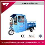 Gasolina de Hybird de tres ruedas y triciclo eléctrico de Passanger con el capo motor