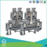 Conector de cabos de quatro condutores Utl Conector de trilho DIN de parafuso dupla camada