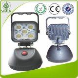 precio de fábrica 15W LED recargable Luz de trabajo magnético