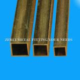 20X20X1mm stark gezeichnete dekorative quadratische Messingrohrleitung