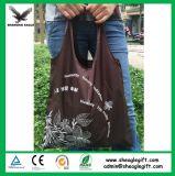 Sacola de sacola de compras dobrável de poliéster de nylon reutilizável