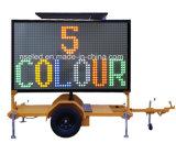 Sinais informativos móveis dos Vms Digitas do reboque do indicador de diodo emissor de luz do tráfego
