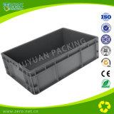 Recipientes de armazenamento de plástico cinza com tampa