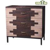 Móveis de madeira decorativos de madeira de três gavetas